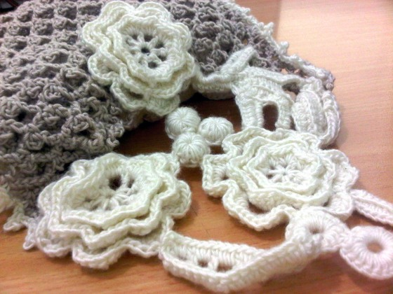 flower scarf lace