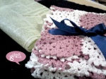 flower scarf pink white